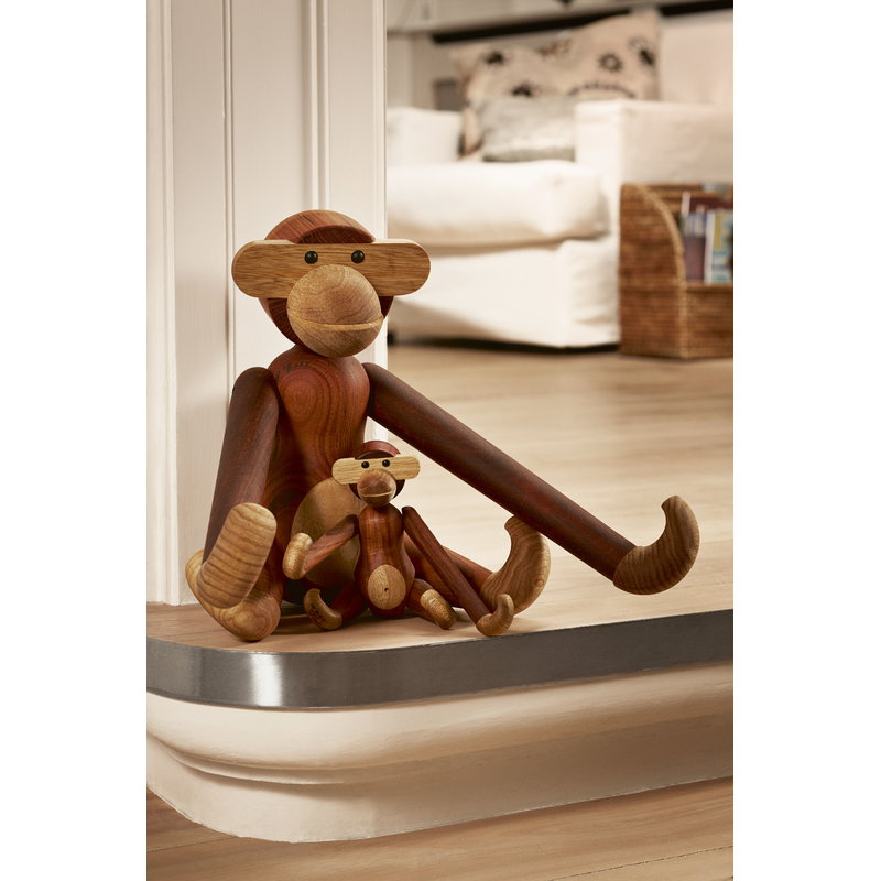 kay bojesen wooden monkey small teak finnish design shop. Black Bedroom Furniture Sets. Home Design Ideas