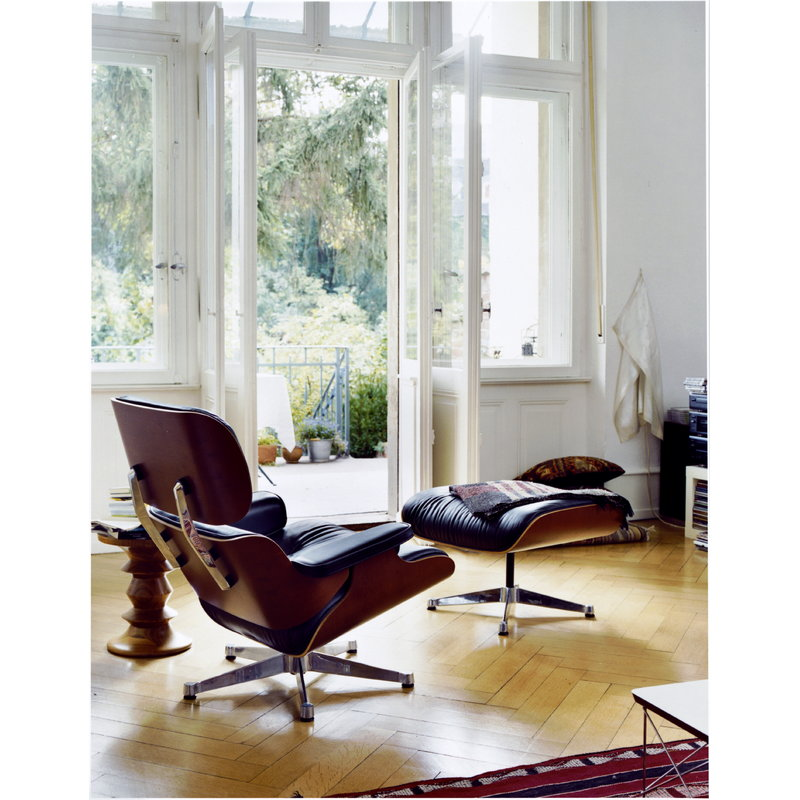 Enjoyable Eames Lounge Chair New Size American Cherry Black Leather Short Links Chair Design For Home Short Linksinfo