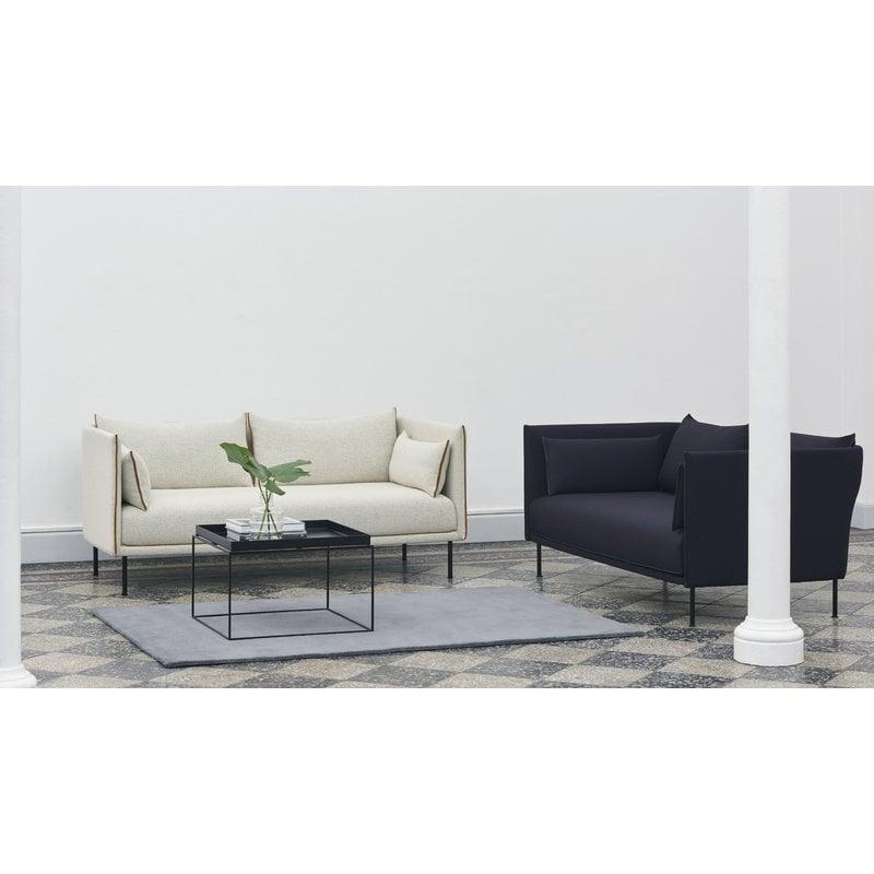 Excellent Silhouette Sofa 2 Seater Coda 100 Silk Cognac Black Steel Alphanode Cool Chair Designs And Ideas Alphanodeonline