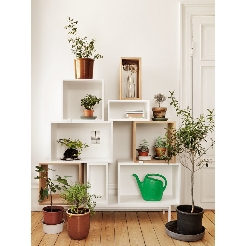 muuto stacked shelf module with backboard small white. Black Bedroom Furniture Sets. Home Design Ideas