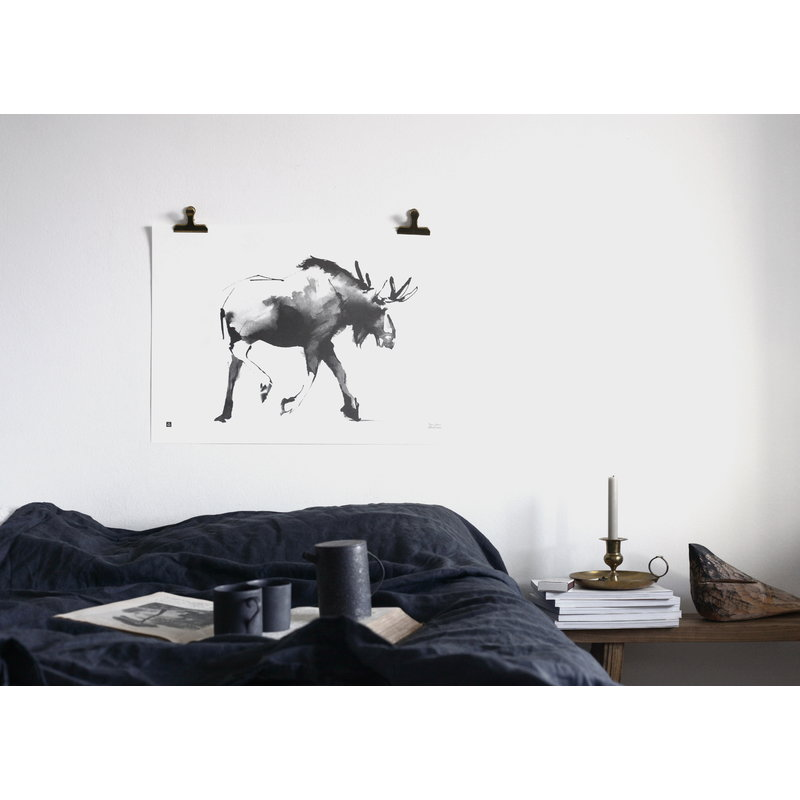 teemu jrvi illustrations elk poster 70 x 50 cm finnish design shop. Black Bedroom Furniture Sets. Home Design Ideas