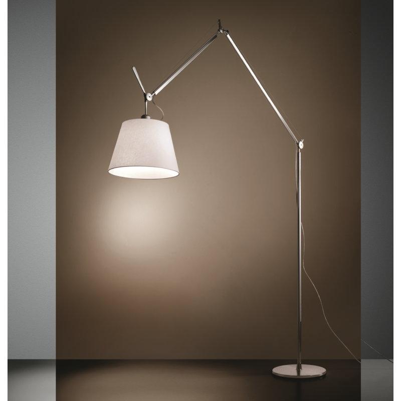 Artemide Tolomeo Mega floor lamp 36 cm, aluminium - parchment ...