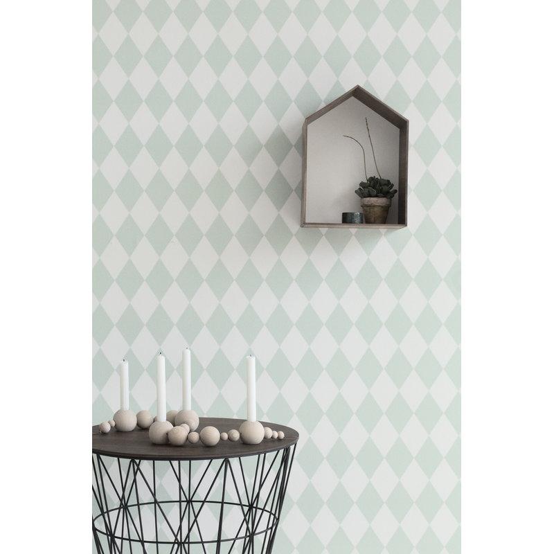 ferm living harlequin tapetti harmaa finnish design shop. Black Bedroom Furniture Sets. Home Design Ideas
