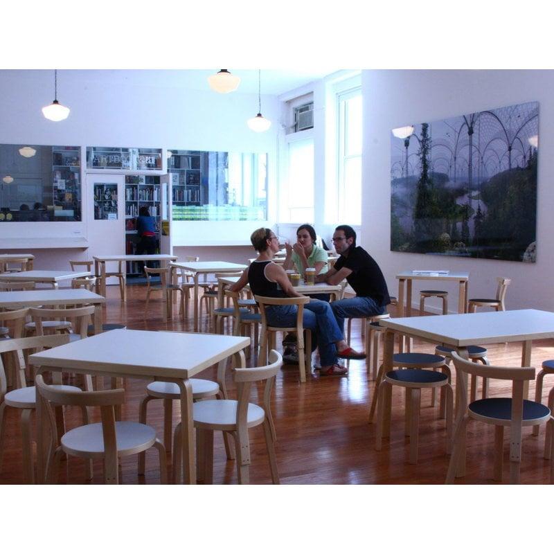 Artek Aalto Stool E60 Black Linoleum Finnish Design Shop