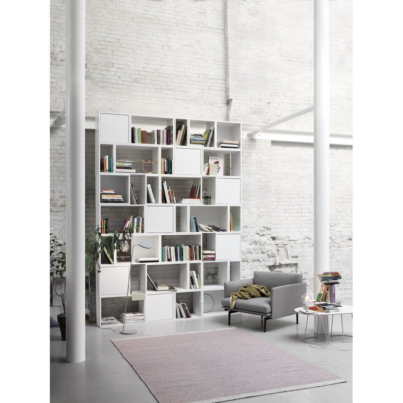 muuto stacked shelf module large white finnish design shop. Black Bedroom Furniture Sets. Home Design Ideas