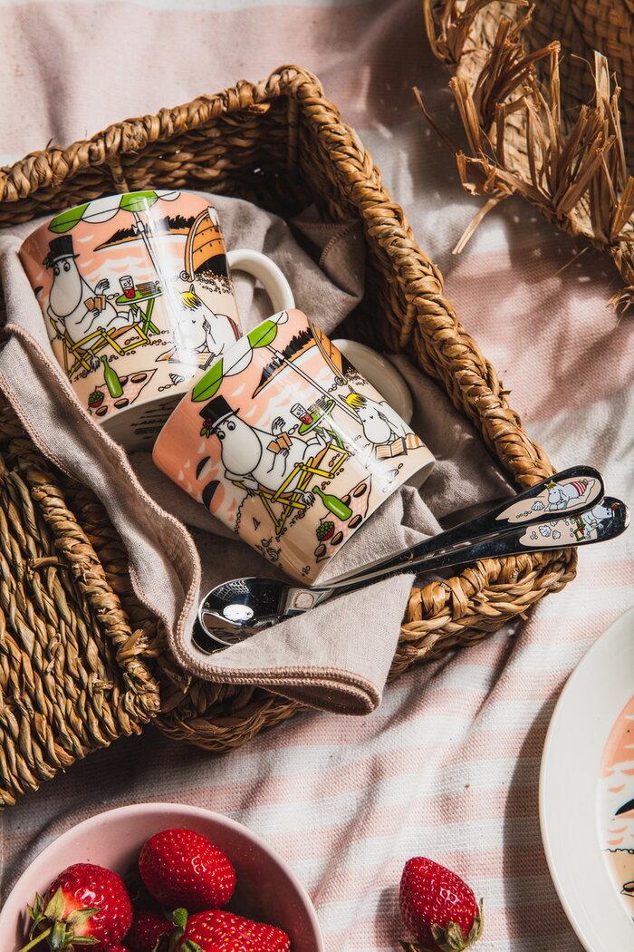 Tablesetting Arabia Hackman Multi colour Metal Ceramic Muumi
