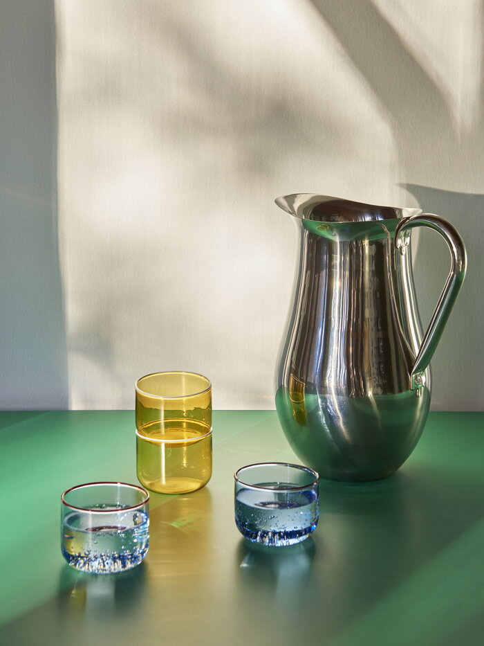 Tablesetting HAY Blue Yellow Metal Glass