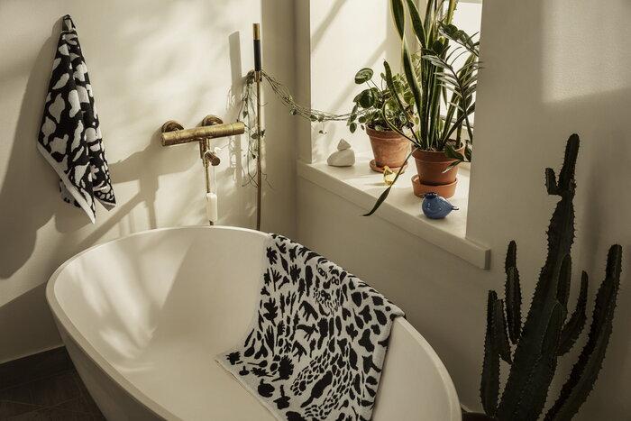 Kylpyhuone Iittala Keltainen Monivärinen Lasi Puuvilla