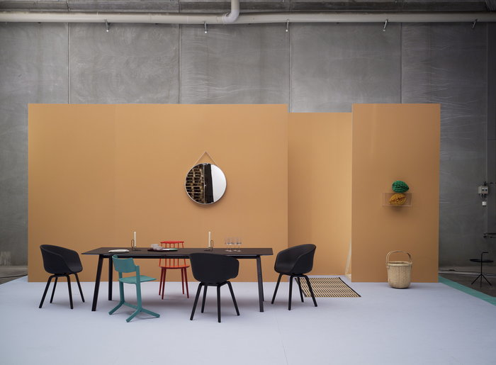 Diningroom HAY Black Grey Red Steel Beech Oak DLM J Collection About a Chair Copenhague