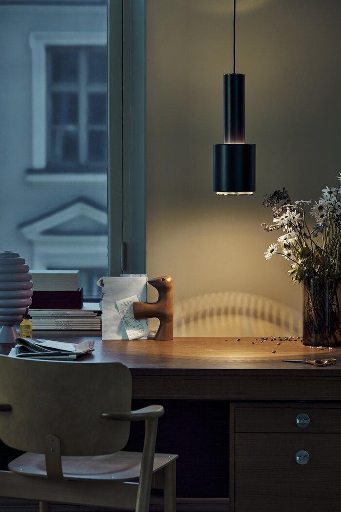 Työpisteet Valaisimet Artek Musta Alumiini Aalto valaisimet