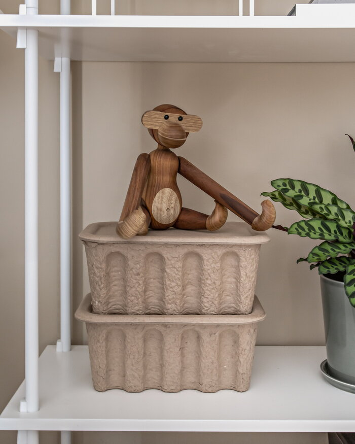 Office Ferm Living Kay Bojesen Brown Nature Paper Teak Wooden objects