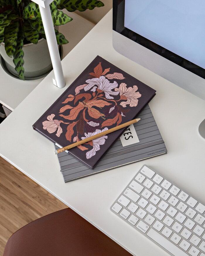 Office Cozy Publishing Design Letters Multi colour Grey Paper