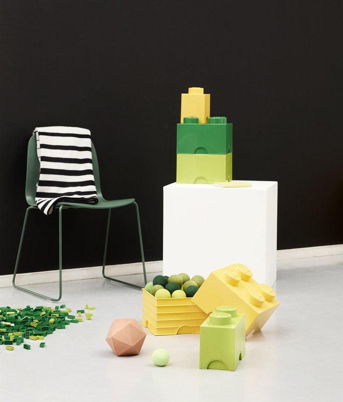 Stanzadeibambini Gestionespazio Room Copenhagen Muuto Verde Giallo Plastica Frassino Lego Visu