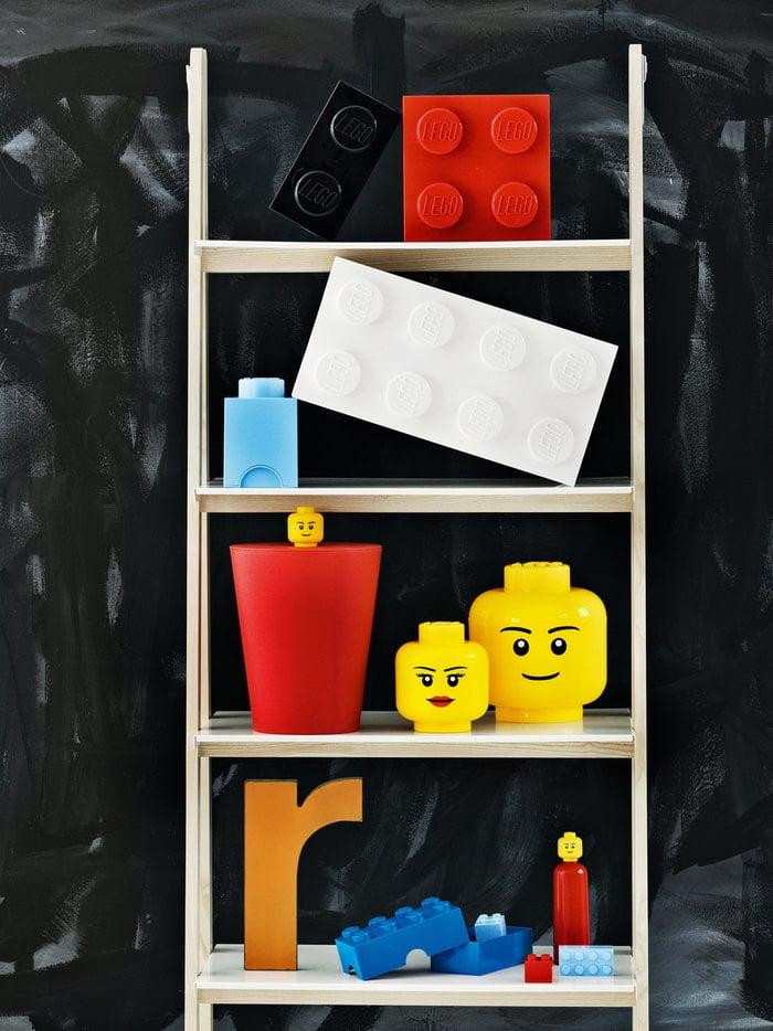 Stanzadeibambini Gestionespazio Room Copenhagen Rosso Bianco Blu Plastica Lego