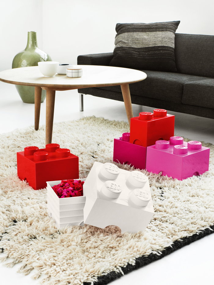 Salotti Gestionespazio Room Copenhagen Rosso Bianco Rosa Plastica Lego