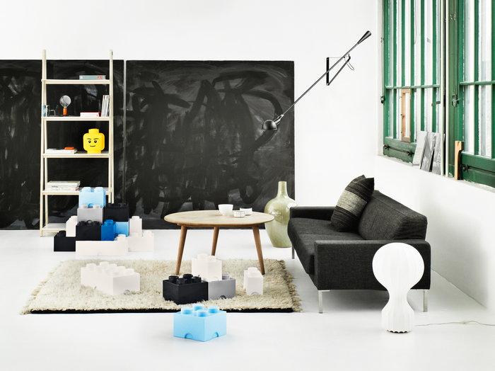 Salotti Room Copenhagen Nero Grigio Turchese Bianco Plastica Lego
