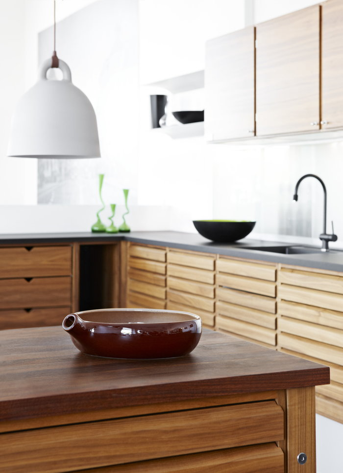 Cucina Normann Copenhagen Verde menta Beige Acciaio Alluminio Krenit Bell
