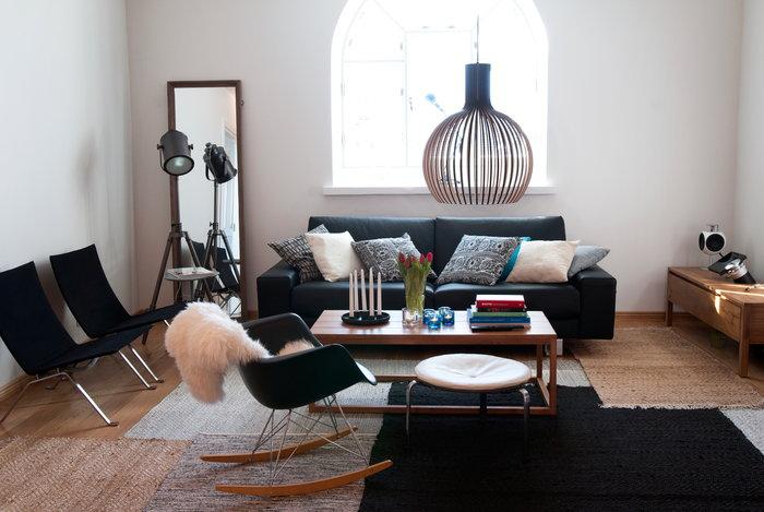 Olohuoneet Vitra Secto Design Musta Metalli Koivu Eames RAR Octo