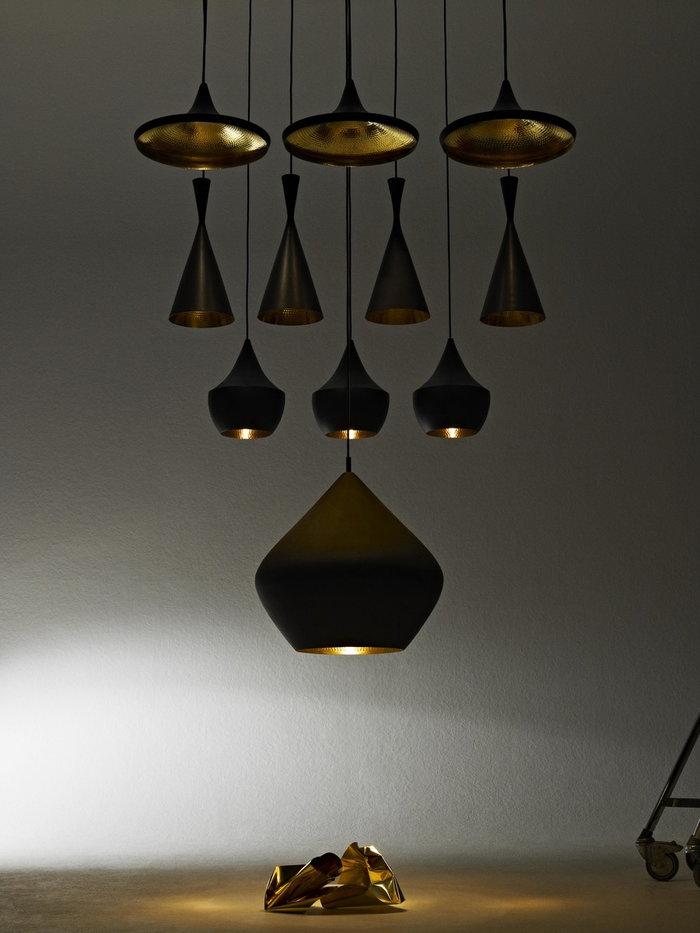 Ideearredamento Tom Dixon Nero Ottone Beat Light