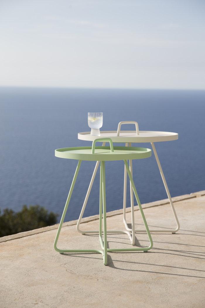 Terrazzo Cane-line Verde menta Bianco Alluminio On-The-Move