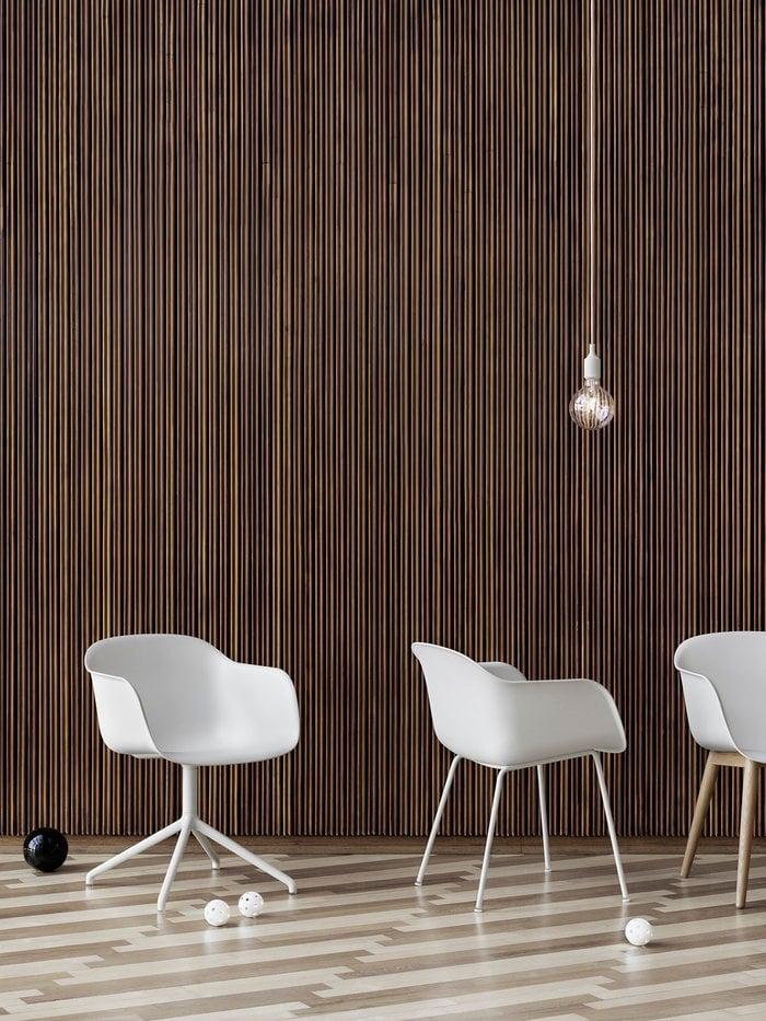 Julkiset tilat Muuto Valkoinen Luonnonväri Komposiitti Fiber Chair E27