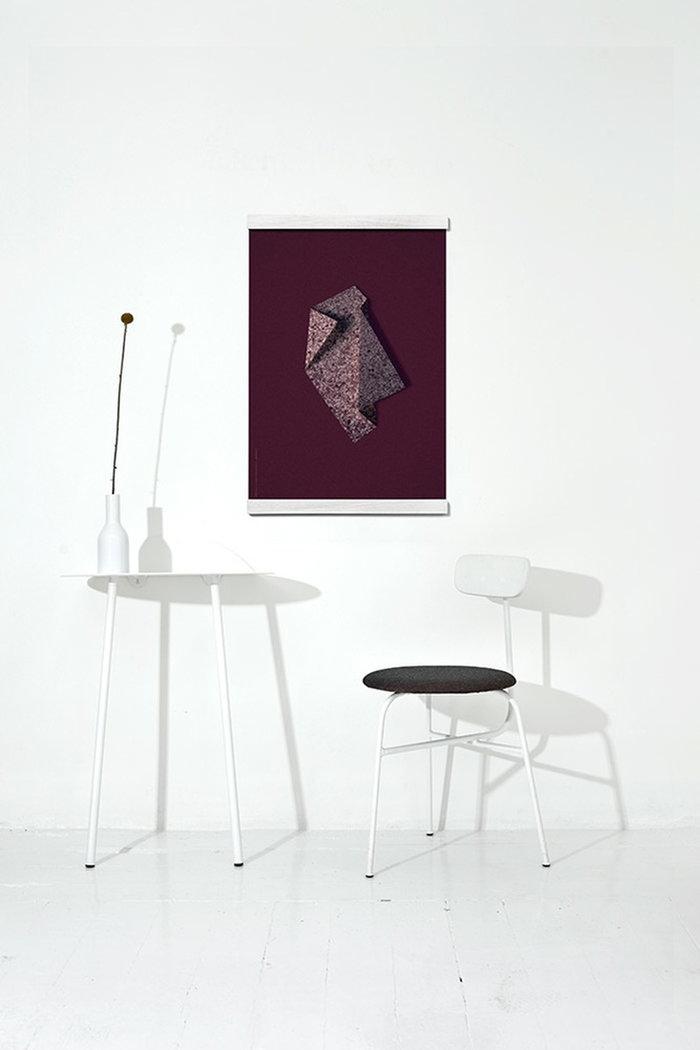 Dettaglioarredamento Poster Menu Paper Collective Bianco Rosso Acciaio Carta Afteroom Yeh Wall Poster