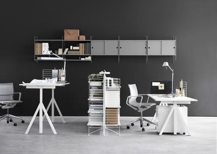Työpisteet Artemide String Furniture Harmaa Valkoinen Metalli Teräs Huopa Muovi String System String Works