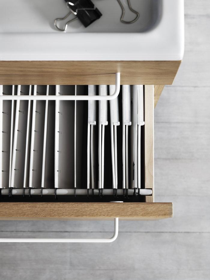Työpisteet Sisustusyksityiskohta String Furniture Luonnonväri Tammi String Works