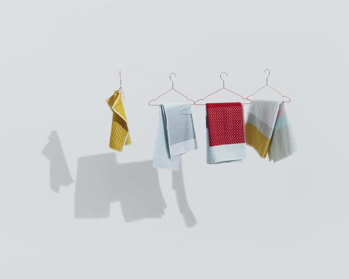 Kylpyhuone Hay Kupari Keltainen Harmaa Puuvilla Hang it all S&B
