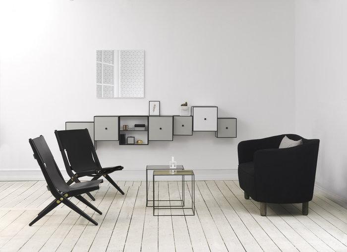Olohuoneet By Lassen Valkoinen Vihreä Messinki Musta Kubus View Frame Twin Saxe