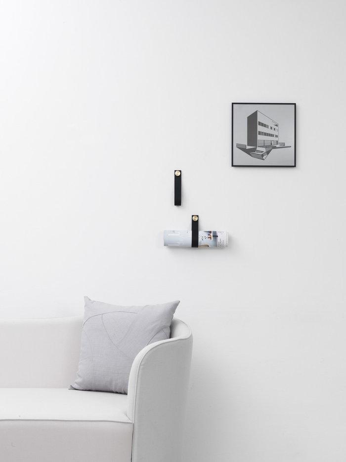 Olohuoneet Sisustusyksityiskohta By Lassen Musta Alumiini Nahka Illustrate Stropp
