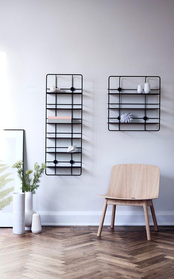 Livingroom Woud Black Steel Coupé
