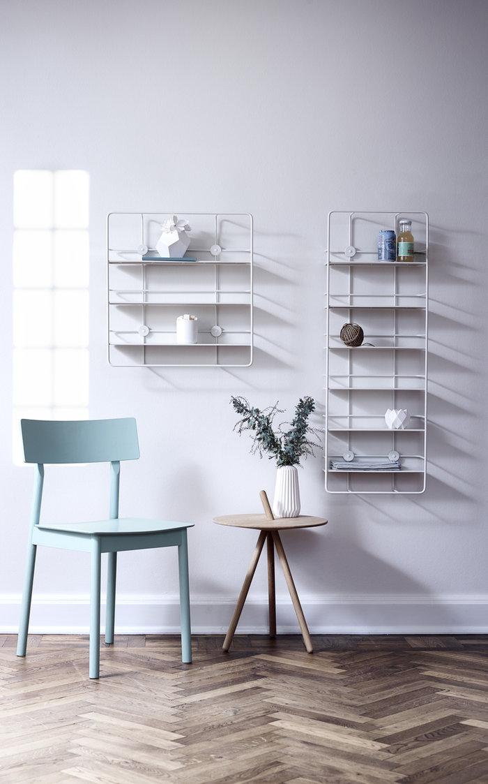 Livingroom Woud White Steel Coupé