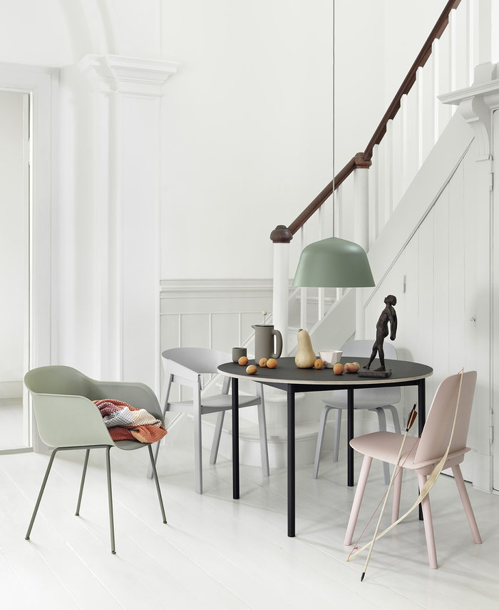 Ruokailutilat Muuto Harmaa Vihreä Keramiikka Saarni Cover Fiber Chair