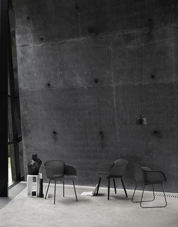 Sisustusideat Julkiset tilat Muuto Valkoinen Musta Vihreä Komposiitti Fiber Chair Grain Stacked