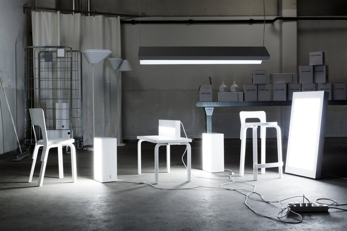 Artek Valkoinen Harmaa Koivu Aalto muut kalusteet Aalto tuolit