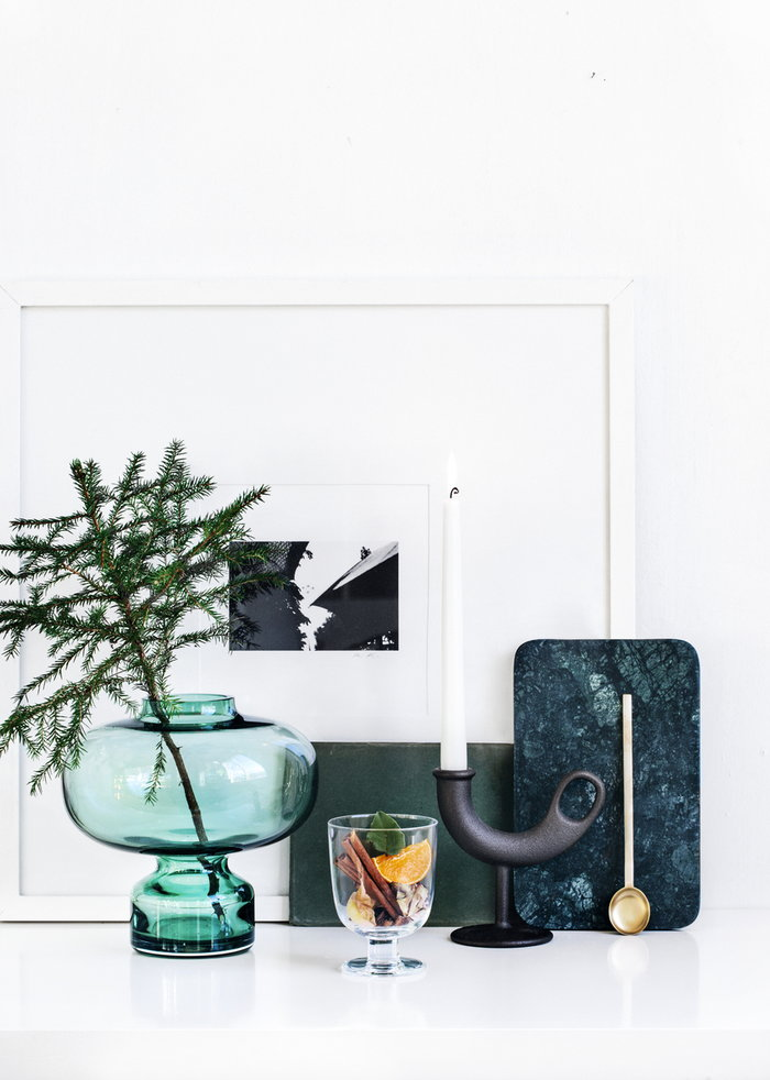 Holidays Details Candles Winter Nedre Foss Ferm Living Georg Jensen Iittala Louise Roe Copenhagen Black Brass Green Clear Cast iron Glass Marble Alfredo Lempi