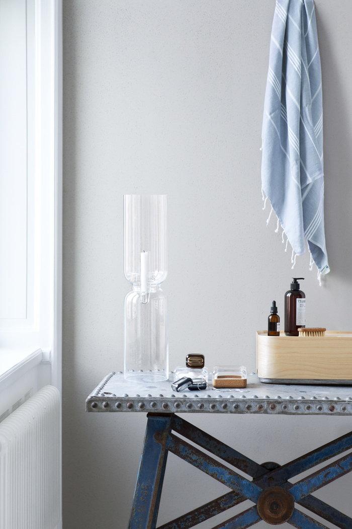 Bathroom Iittala Clear Nature Grey Glass Oak Birch Lantern Vitriini Vakka