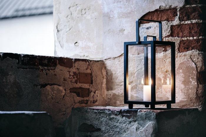 Kynttilät Talvi Cane-line Musta Alumiini