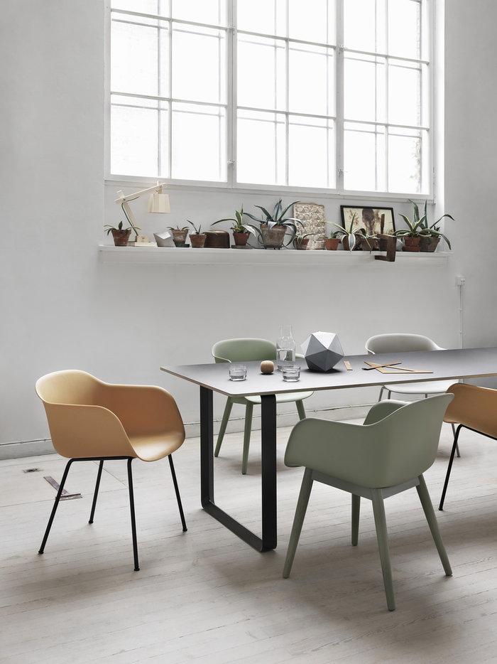 Ruokailutilat Muuto Harmaa Luonnonväri Vihreä Komposiitti Fiber Chair