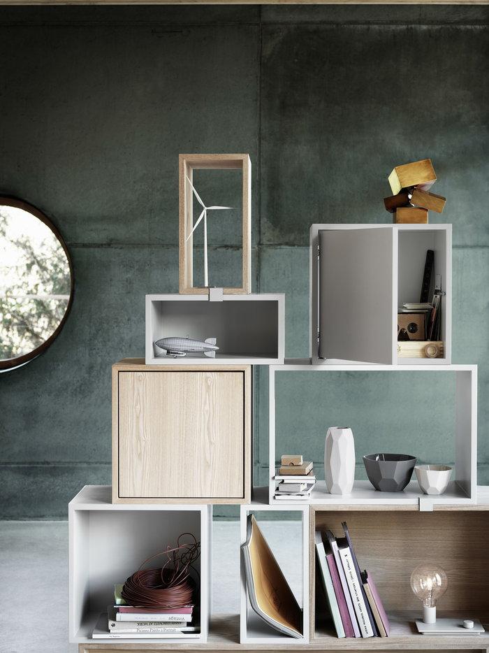 Office Storage Decorationideas Summer living Muuto Brown Grey White Nature Ceramic Aluminium Ash Stacked
