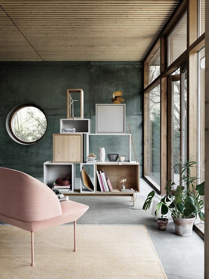 Office Livingroom Houseplants Storage Summer living Muuto Red Grey Nature Ash Oslo Stacked