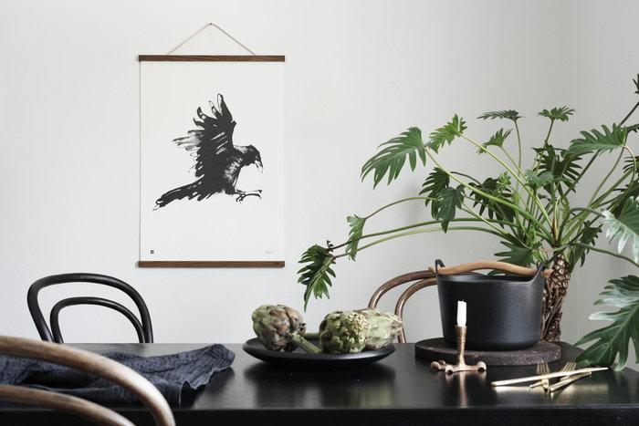 Piante Poster Teemu Järvi Illustrations Nero Metallo