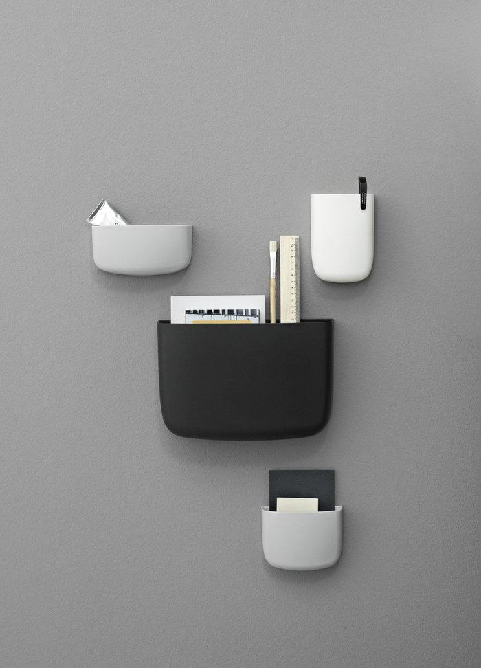 Säilytys Normann Copenhagen Valkoinen Harmaa Musta Muovi Pocket