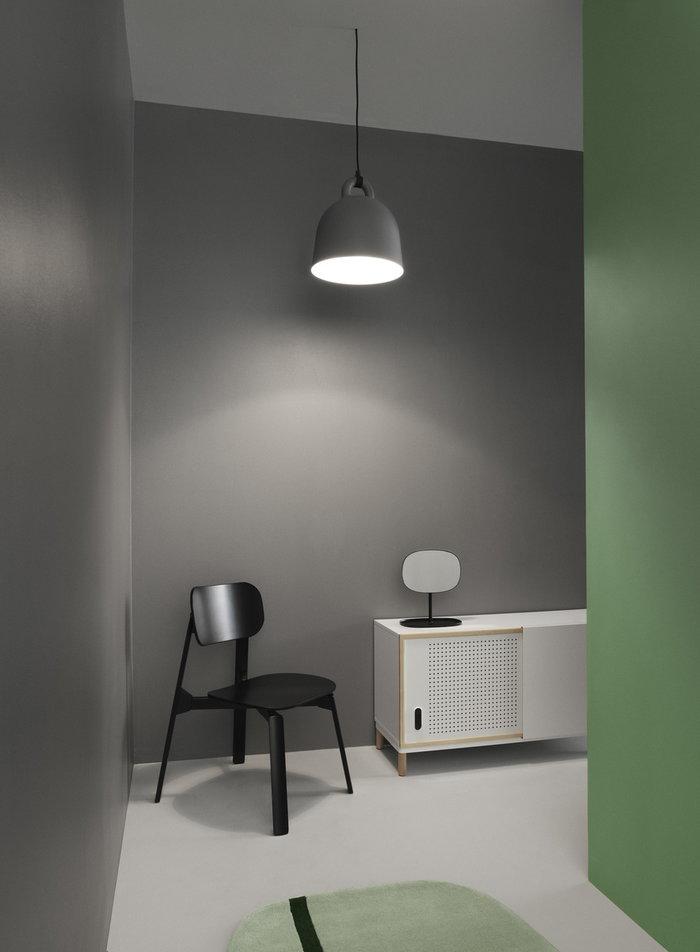 Ingresso Normann Copenhagen Nero Grigio Acciaio Alluminio Flip Bell