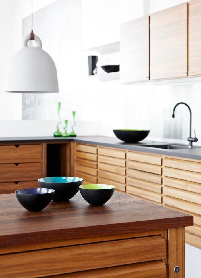 Cucina Normann Copenhagen Verde menta Bianco Acciaio Alluminio Krenit Bell