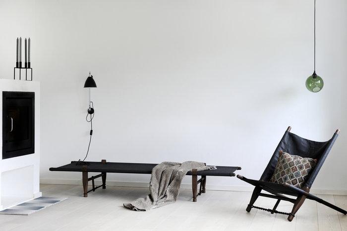 Livingroom Fireplace Winter By Lassen Skovshoved Møbelfabrik Black Wood Kubus