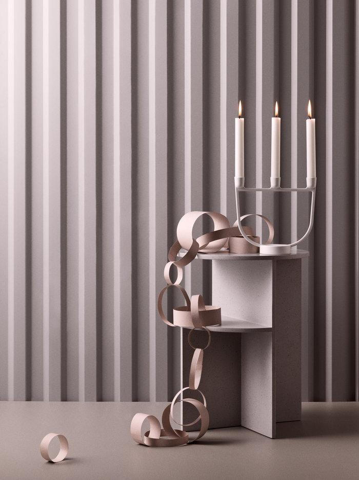 Joulu Kynttilät Muuto Valkoinen Harmaa Alumiini Komposiitti