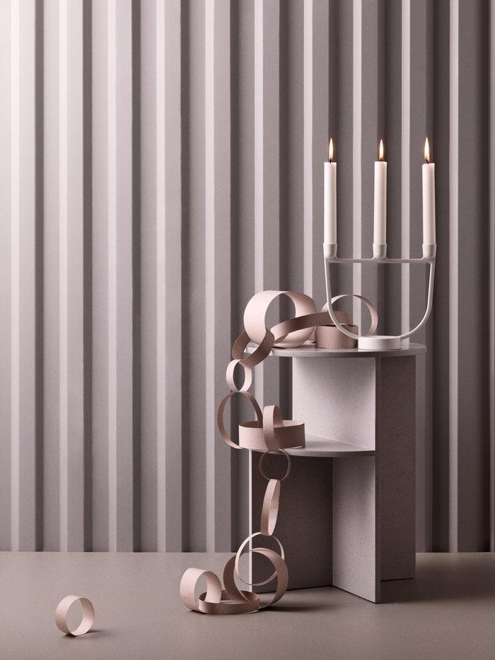 Holidays Candles Muuto White Grey Aluminium Composite