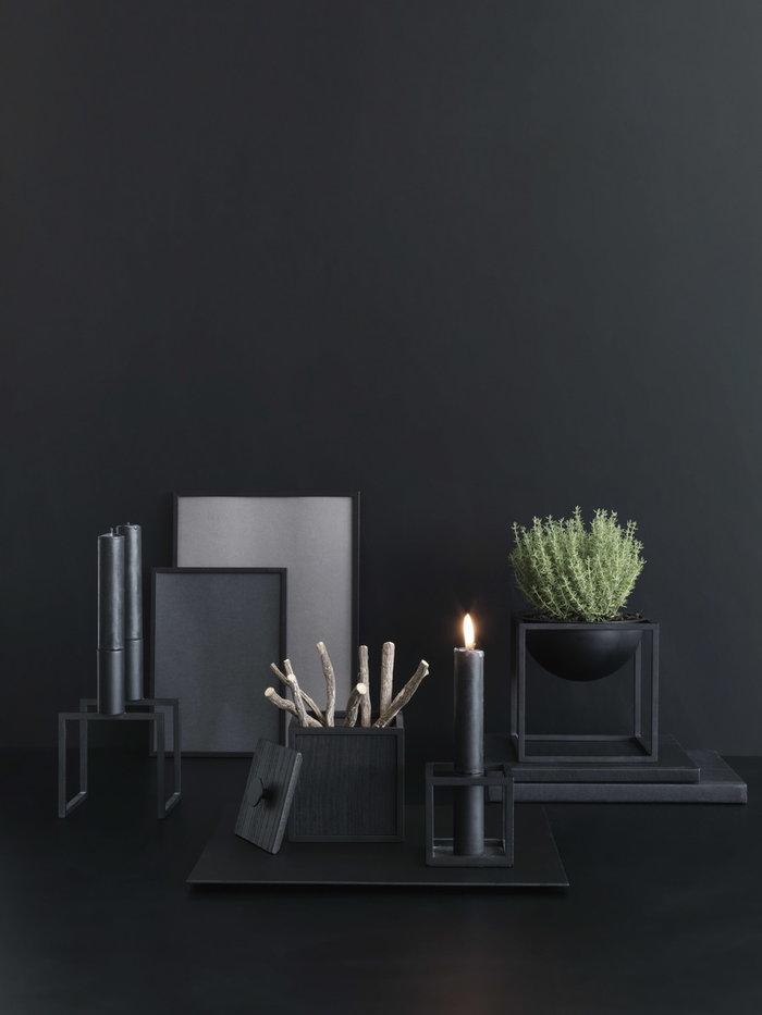 Joulu Sisustusyksityiskohta Kynttilät By Lassen Musta Alumiini Saarni Kubus Illustrate Frame